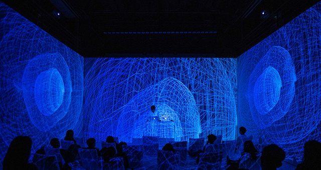 미디어아트, 은하수 빛으로 병기를 씻다-레이저 쇼와 퍼포먼스.jpg
